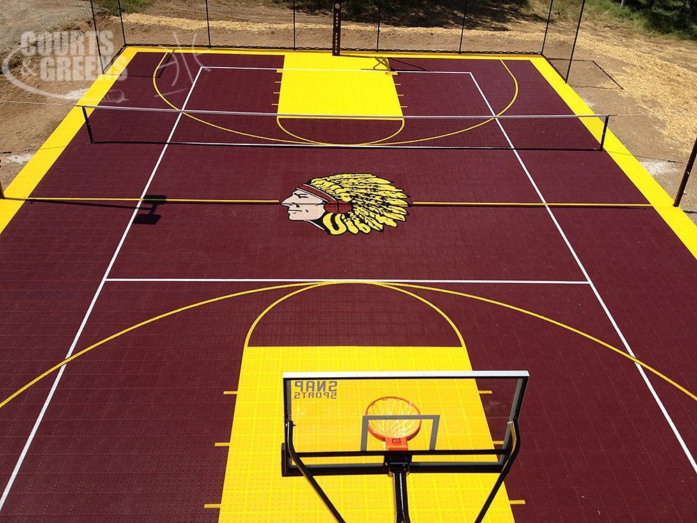 Residential basketball court cost courts and greens for Cost for basketball court