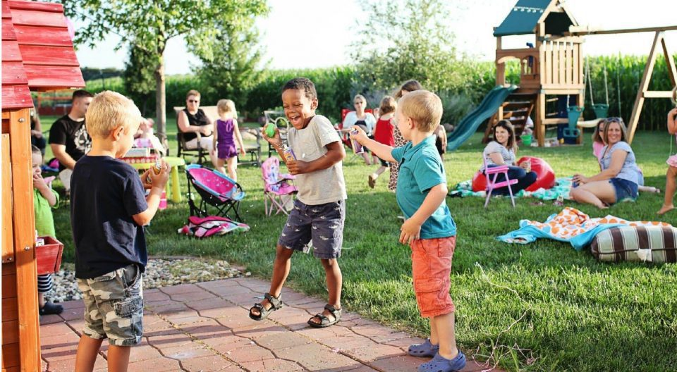backyard fun provided by Courts and Greens in Bakersfield