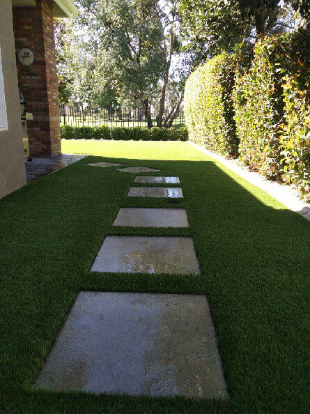 immaculate display and styling of synthetic grass by courts and greens in Bakersfield