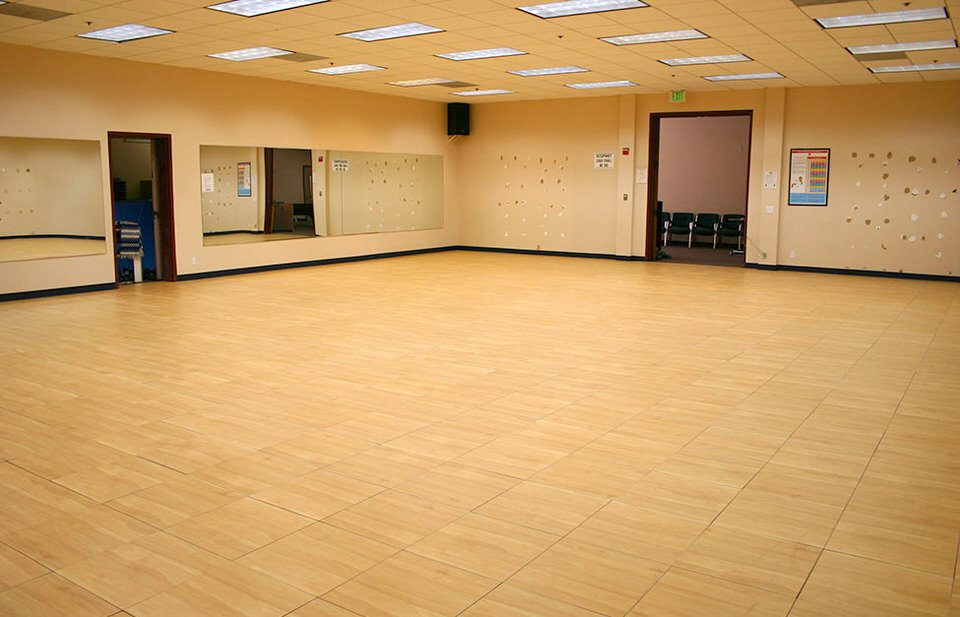 dance studio installed flooring by Courts and Greens in Bakersfield