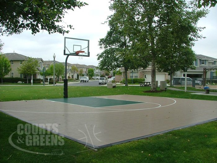 professional park basketball court by Courts and Greens in Bakersfield