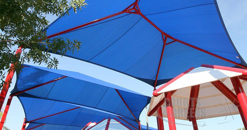 shade structure by Courts and Greens in Bakersfield