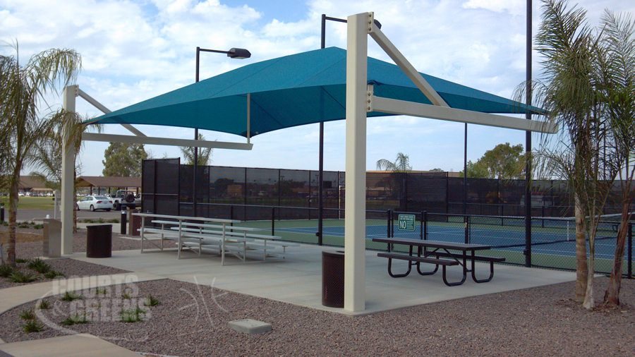 park shaded structures by Courts and Greens in Bakersfield