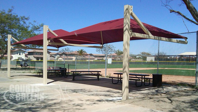 modern shaded structures by Courts and Greens in Bakersfield