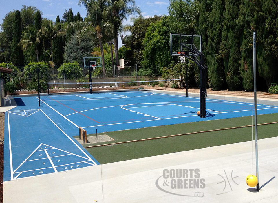 custom basketball courts by Courts and Greens in Bakersfield