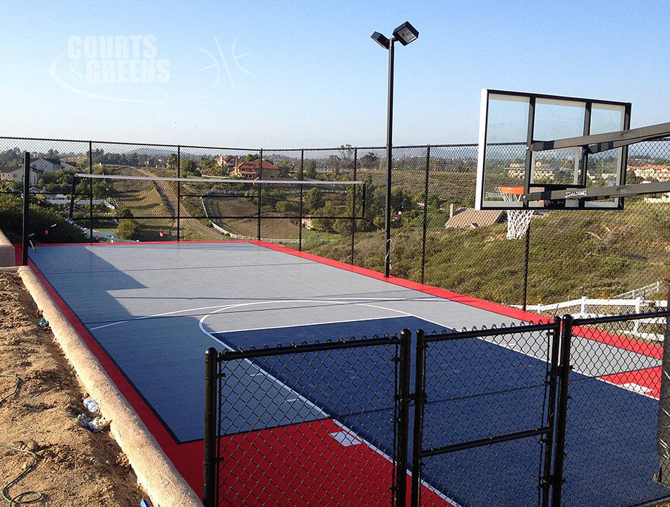 custom colored basketball courts by Courts and Greens in Bakersfield