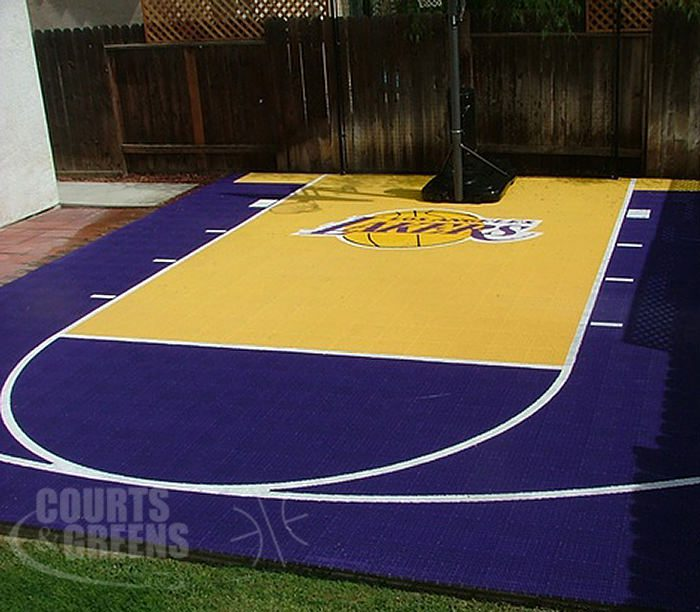 custom team basketball courts by Courts and Greens in Bakersfield