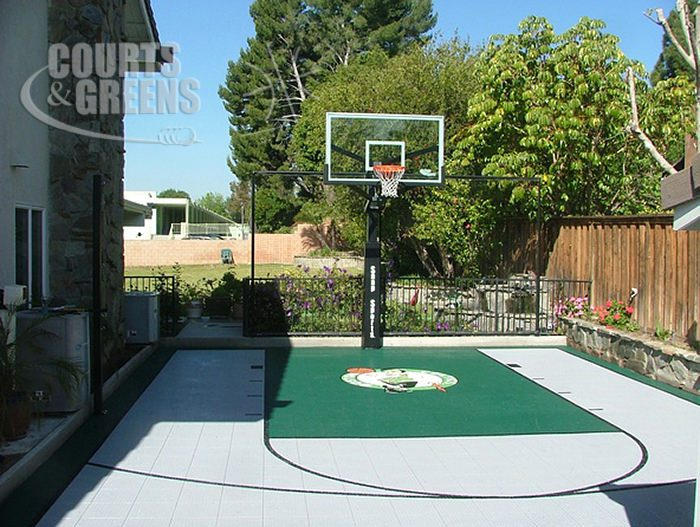 Small Backyard Basketball Court Ideas By Courts And Greens