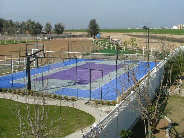 irresistibly custom basketball courts by Courts and greens in Bakersfield