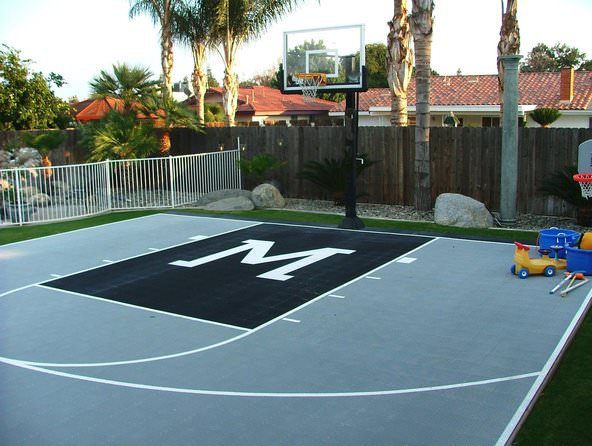 creatively custom basketball courts by Courts and greens in Bakersfield