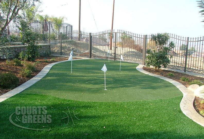 pretty and professional putting greens by Courts and Greens in Bakersfield