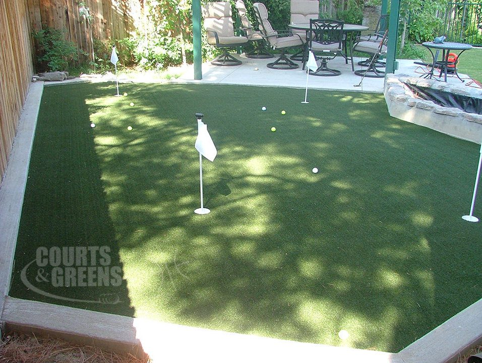 professionally installed putting greens by Courts and Greens in Bakersfield