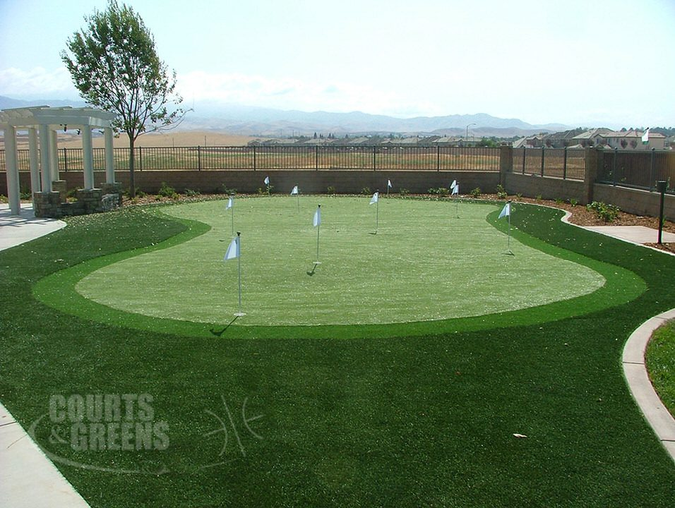 classic custom putting greens by Courts and Greens in Bakersfield