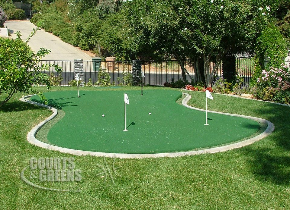 custom putting greens by Courts and Greens in Bakersfield