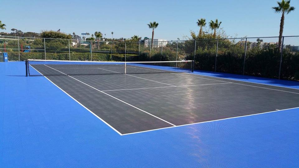 professional tennis courts by Courts and Greens in Bakersfield