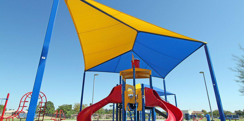 childproof playground shade structures by Courts and Greens in Bakersfield