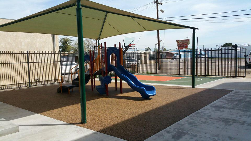 professional playground setup by Courts and Greens in Bakersfield