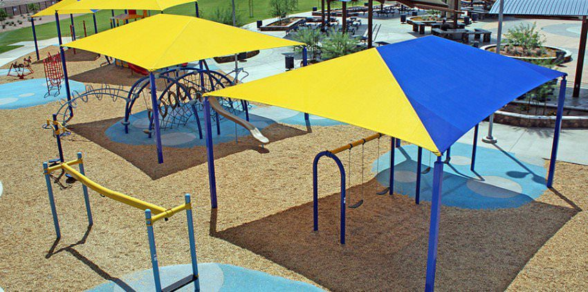 shade structure playgrounds by Courts and Greens in Bakersfield