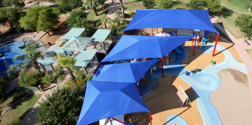grand shade structures by Courts and Greens in Bakersfield