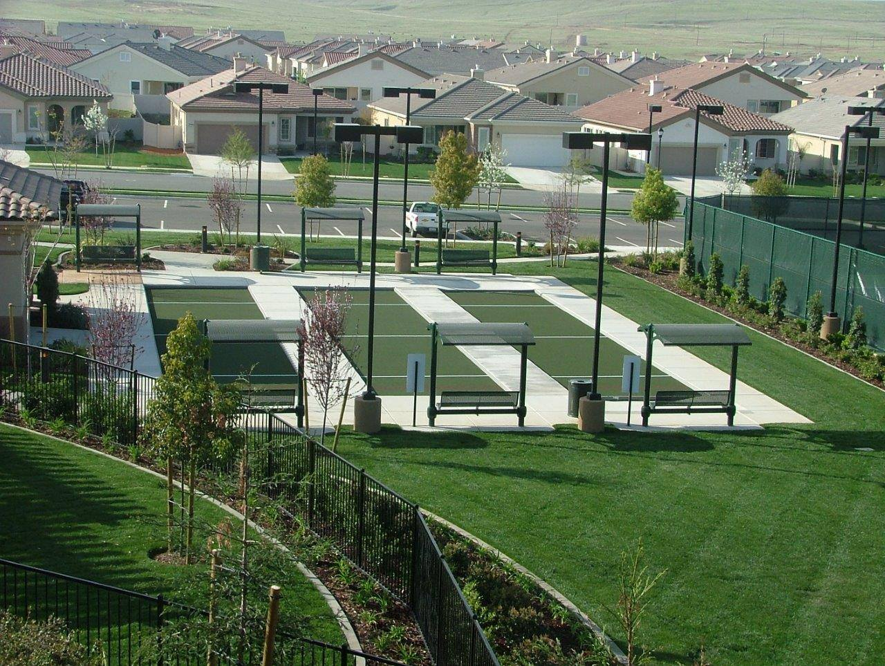 bocce ball sports surfacing by Courts and Greens in Bakersfield