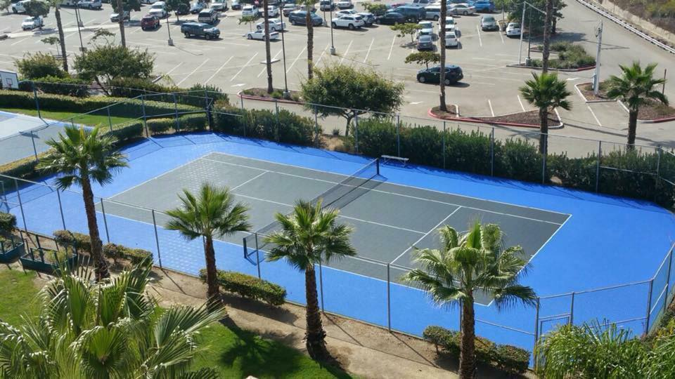 custom professional tennis by Courts and Greens in Bakersfield