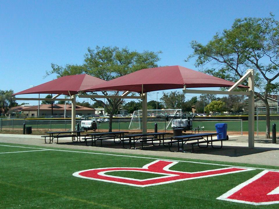 soccer park shade structures by Courts and Greens in Bakersfield
