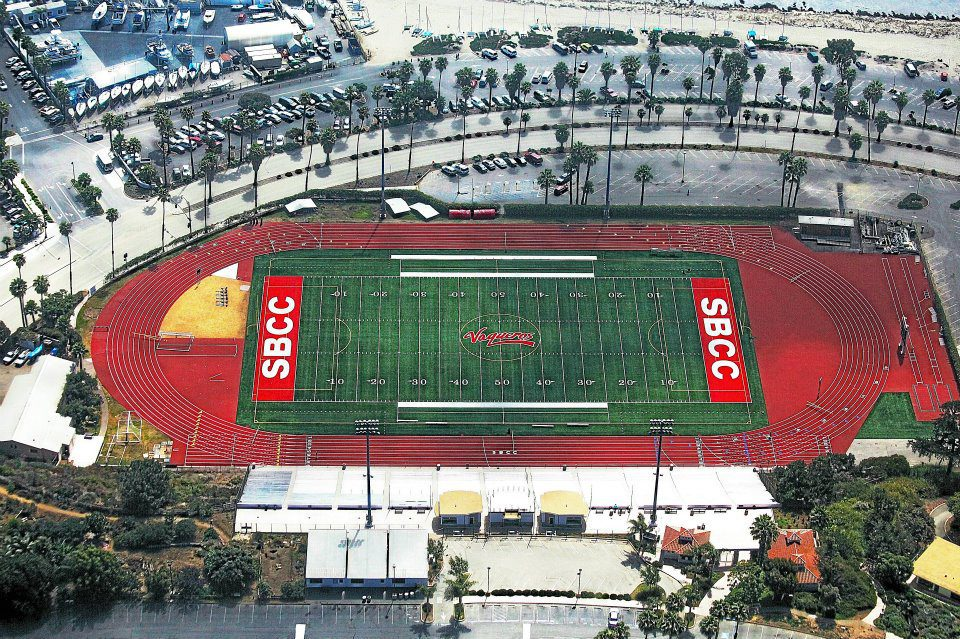 track and field stadium with synthetic turf by Courts and Greens in Bakersfield