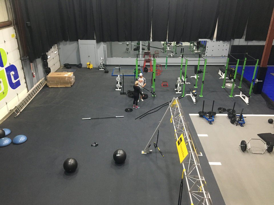 custom gym set up by Courts and Greens in Bakersfield
