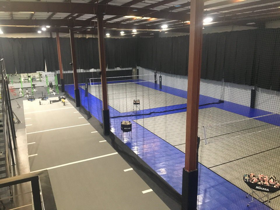custom volleyball set up by Courts and Greens in Bakersfield