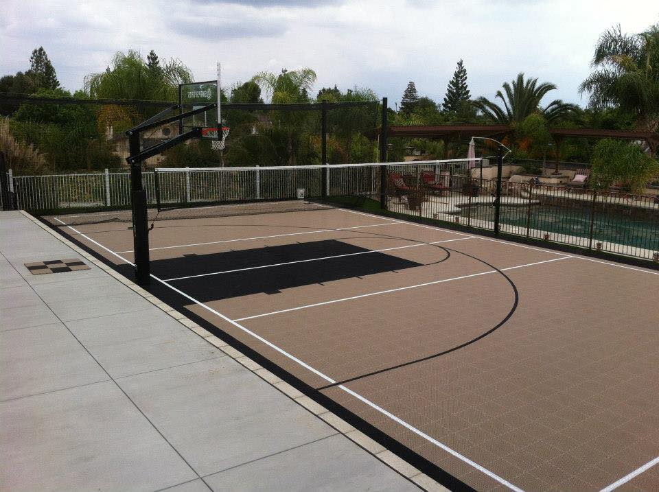 multi sports courts by Courts and Greens in Bakersfield