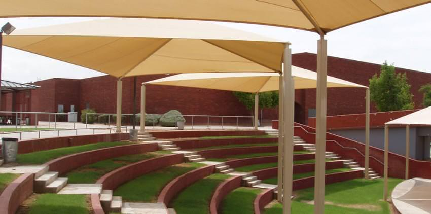 park shade structure by Courts and Greens in Bakersfield