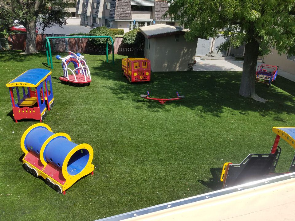 playground with synthetic turf designed by Courts and Greens in Bakersfield