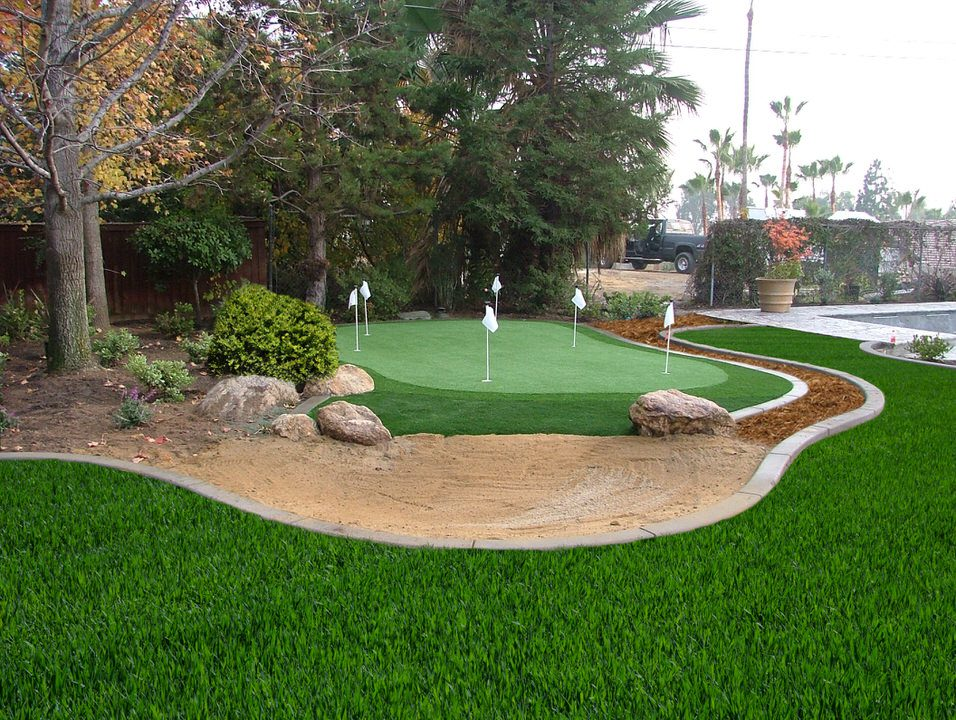 front yard putting greens by Courts and Greens in Bakersfield