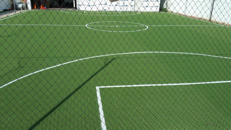 synthetic grass soccer field by Courts and Greens in Bakersfield