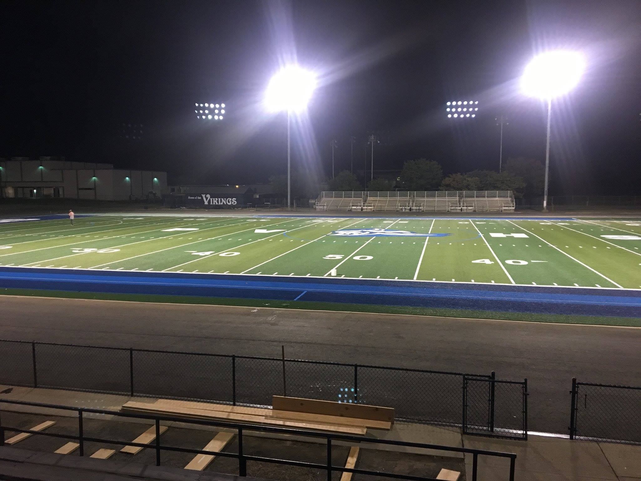 professional football fields with syn turf by Courts and Greens in Bakersfield