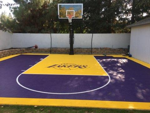 Custom basketball court construction by courts and greens in Bakersfield
