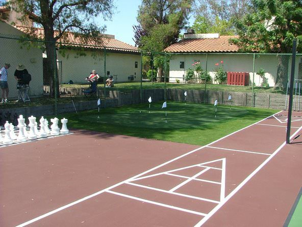 mandatory multi sporting courtss by Courts and greens in Bakersfield