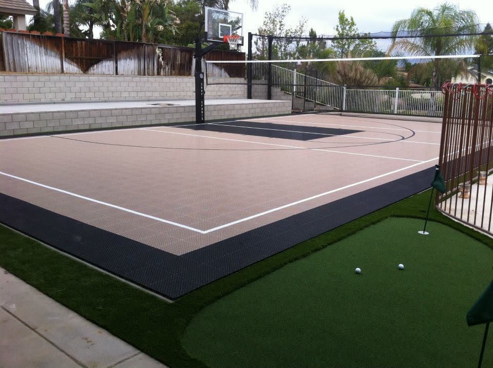 immaculate multi sport courts by Courts and greens in Bakersfield