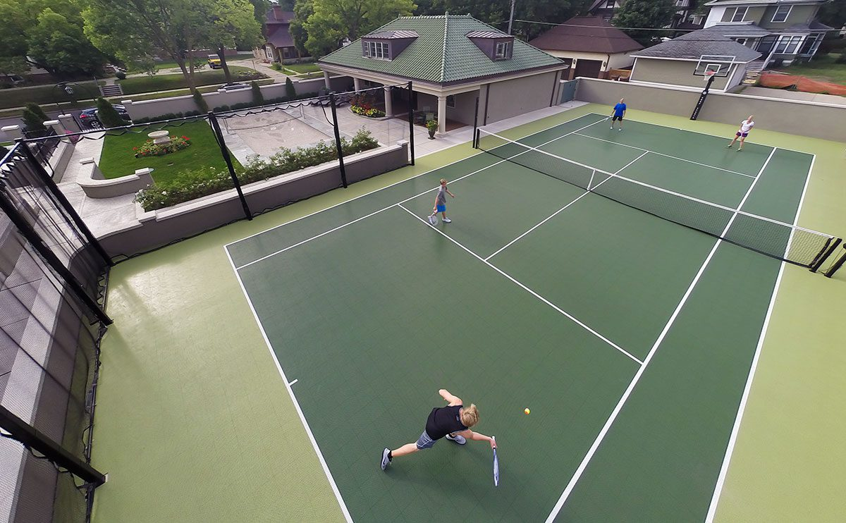 tennis courts by Courts and Greens in Bakersfield
