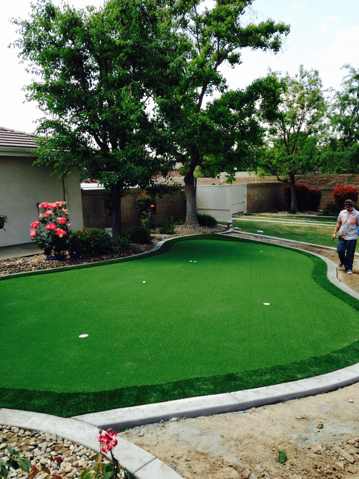 perfect backyard putting green by Courts and greens in Bakersfield